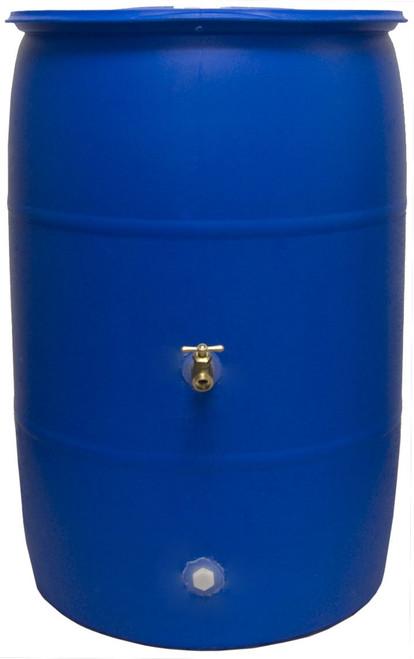 Good Ideas RB55-BLUE Big Blue Recycled Rain Barrel, 55 Gallon