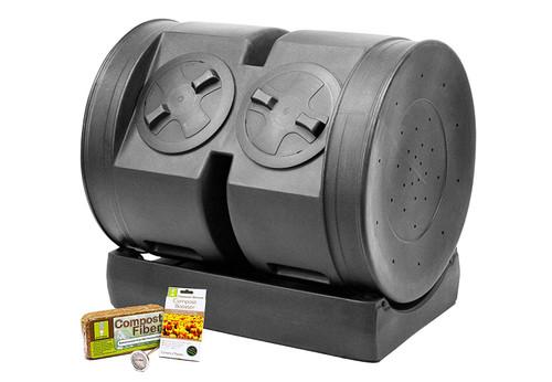 Good Ideas 65-CW-2XS007 Compost Wizard Dual Senior Starter Kit, 7 Cubic Feet