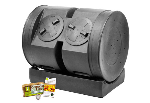 Good Ideas 65-CW-2XS007 Compost Wizard Dual Senior Starter Kit, 7 Cubic Feet