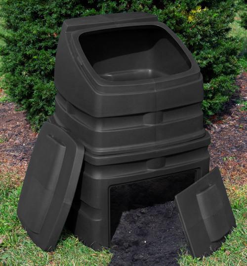Good Ideas EZCB-BLK 12-Cubic Foot Compost Wizard Standing Bin