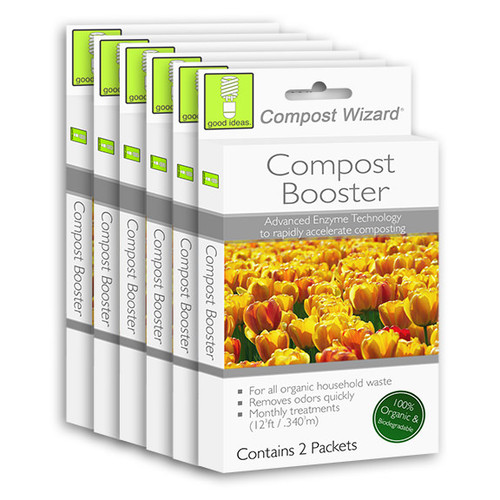 Good Ideas Compost Wizard Compost Booster, 6 pack