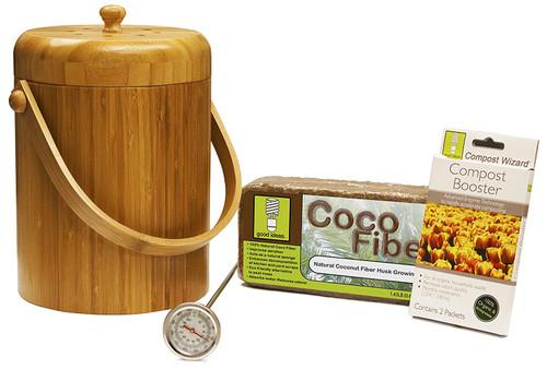 Good Ideas Compost Wizard Bamboo Starter Essentials Kit