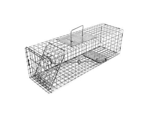 Tomahawk Live Trap 105 Extra Long for Skunk, Opossum and Similar Sizes Trap with One Trap Door