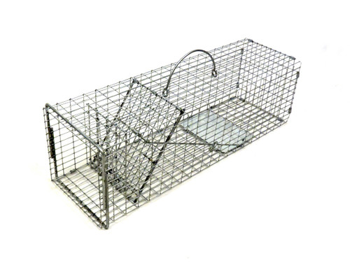 Tomahawk Live Trap 103.5F - Flush Mount Squirrel Trap with One Trap Door and Tight Mesh Pattern