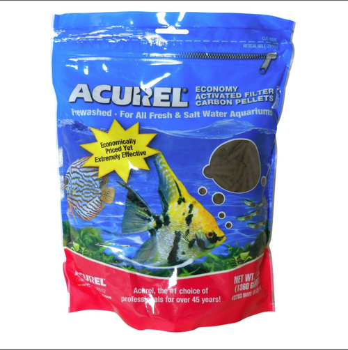 Acurel Economy Activated Filter Carbon Pellets - 3 lb Pouch for Pond Filters 2203