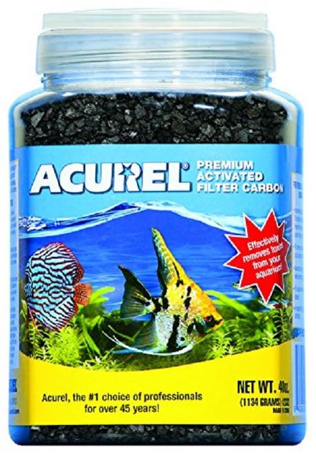 Acurel 2332 Premium Activated Filter Carbon Granules for Aquariums and Ponds, 40-OZ Jar