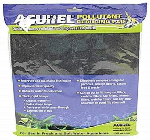 "ACUREL 2505 Pollutant Reducing INFUSED MEDIA PADS - CARBON - 10"" X 18"""
