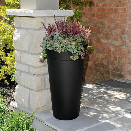 Mayne Creston 28″ Tall Planter Black, White or Espresso 5881