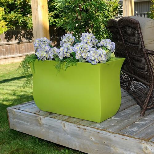 Mayne Valencia 16″ x 36″ Planter Black, White, Espresso, Macaw Green or Neptune Blue 5875