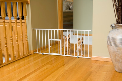Carlson Pet Mini Gate with Pet Door 0680PW