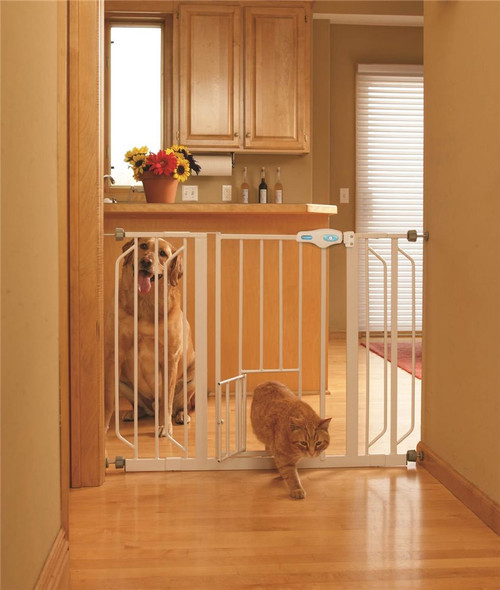 Carlson Pet Extra Wide Pet Gate with Small Door 0934PW