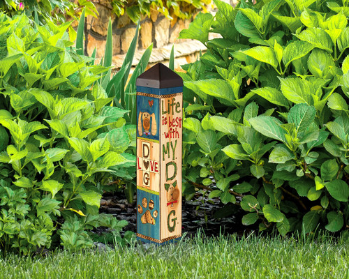 Lessons from My Dog Pole Garden Art   By Studio M PL1115
