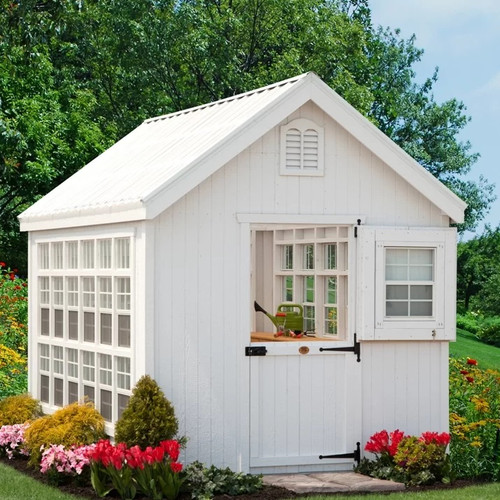 Little Cottage Compnay Colonial Gable 8 Ft. W x 12 Ft. D Greenhouse