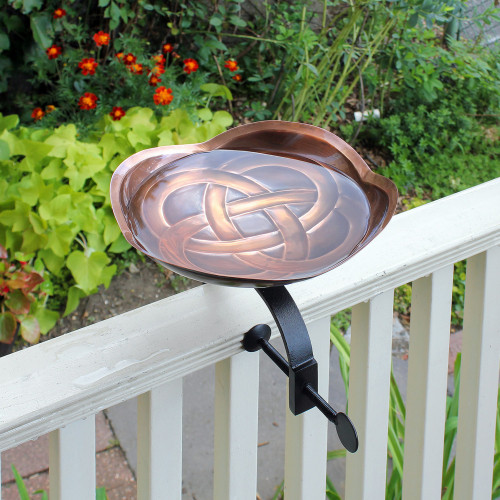 Achla Dara Knot BirdBath With Deck Rail Bracket (BB-11-OR)