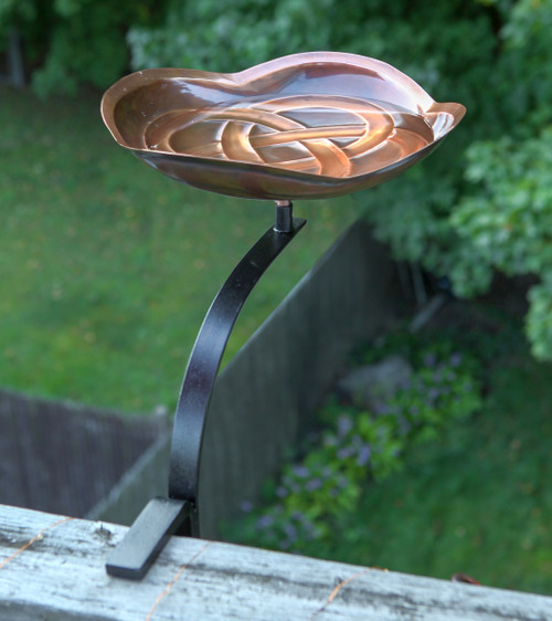 Achla Dara Knot BirdBath With Deck Rail Bracket BB 11 RM