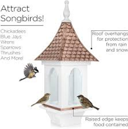 Good Directions Villa  Bird Feeder  BF101WWHT