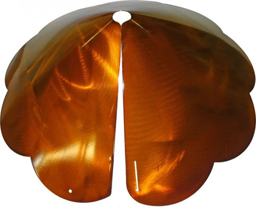 Erva Pole Mount Scalloped Edge Squirrel Baffle Copper Tint Finish SB8SEC