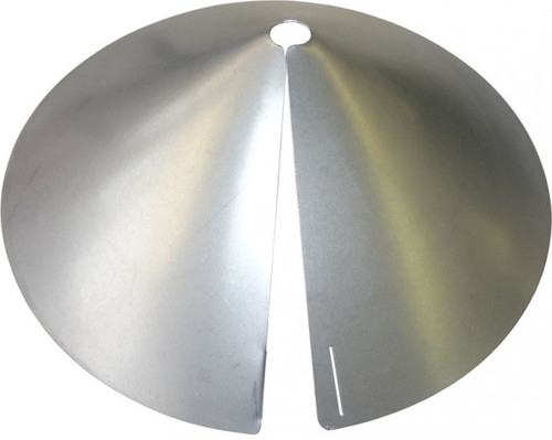 Erva Pole Mount Squirrel Baffle Galvanized Finish SB8GLV