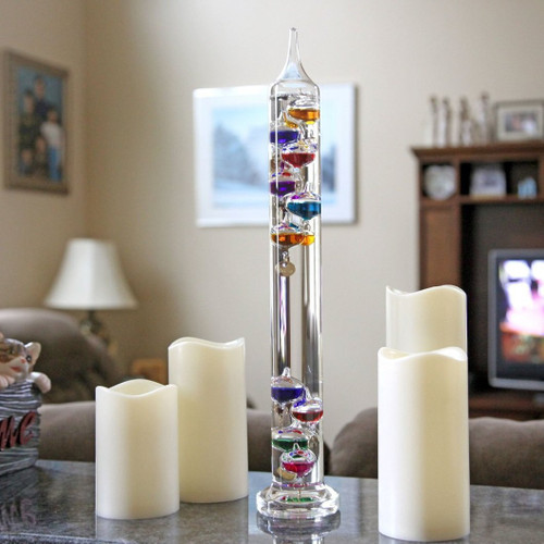 Galileo Glass Indoor Thermometer 17 Inches Tall ( GEGL17)