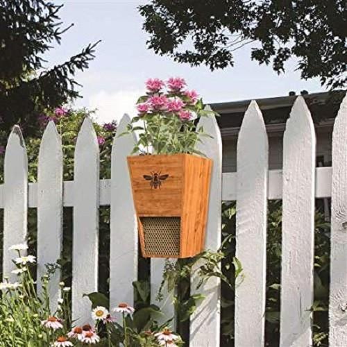 Woodlink Combination Cedar Mason Bee House and Planter 28553