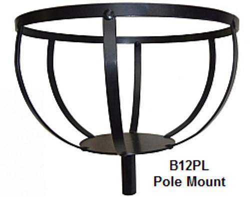 Pole Mount Flower Pot Holder 12 in  B12PL