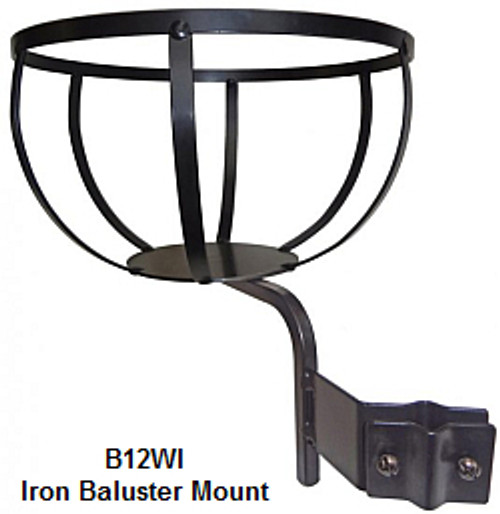 Flower Pot Holder Wrought Iron Baluster 12 in B12WI
