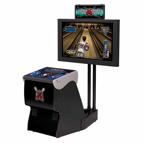 Silver Strike X Bowling Home Arcade Game With Monitor Stand 52772