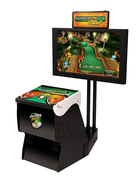 Power Putt Golf Home Arcade Game With Monitor Stand 17846