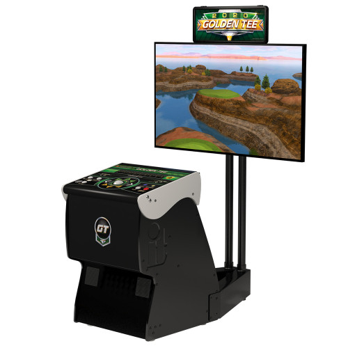 2020 Golden Tee Golf Home Arcade Game With Monitor Stand 51400