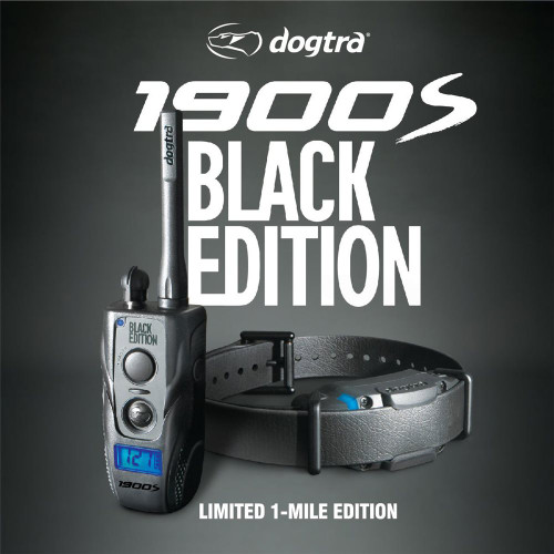 Dogtra 1900 S Black Edition Waterproof Remote Dog Trainer 1 Mile Range