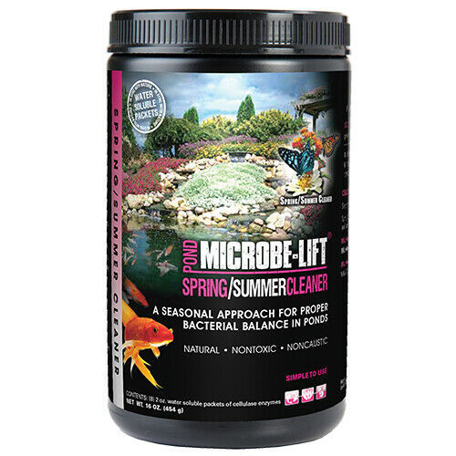 Microbe Lift Spring/Summer Pond Cleaner 8 x 2 oz. Packets 10XSSCX1