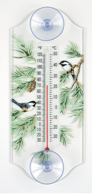 Aspects 116 Chickadee Pine Classic Window Thermometer ASPECTS116