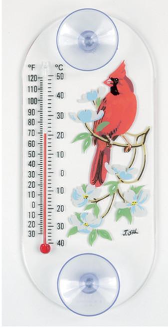Aspects 193 Cardinal Dogwood Original Window Thermometer ASPECTS193