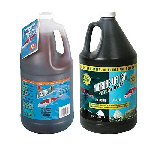 Microbe-Lift PL 1 gl Pond Clarifier + Microbe Lift Pond Sludge Away 1 gl Combo