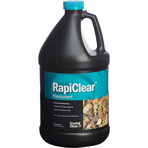 Crystal Clear RapiClear Flocculant Pond Water Treatment 1 gal. ARCC033