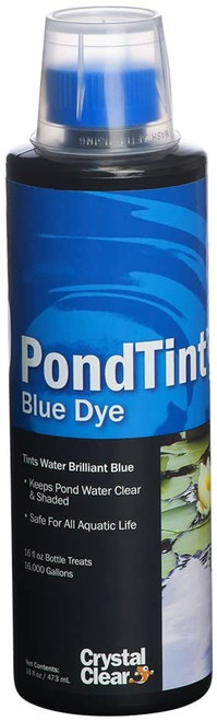 Crystal Clear Pond Tint Blue Pond Dye 16oz. ARCC052