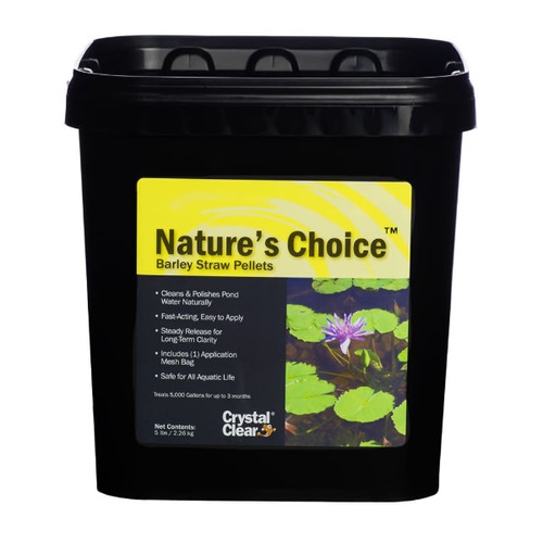 CrystalClear Nature's Choice Barley Straw Pellets 5lbs. ARCC078