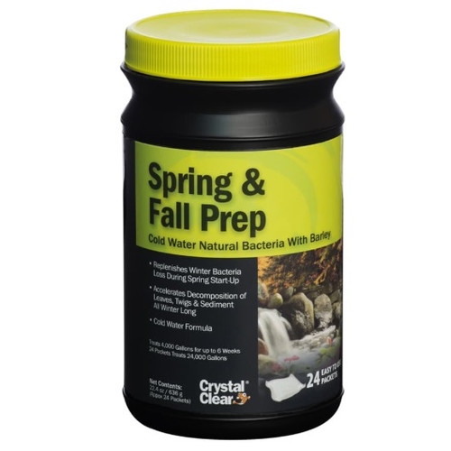 CrystalClear Spring & Fall Prep Cold Water Bacteria 24 Packets ARCC114