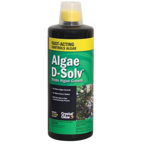 CrystalClear Algae D-Solv Algaecide Pond Treatment 32oz. CC073-32