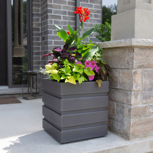 Mayne Freeport Patio Planter 18 x18 Graphite 5860 GRG