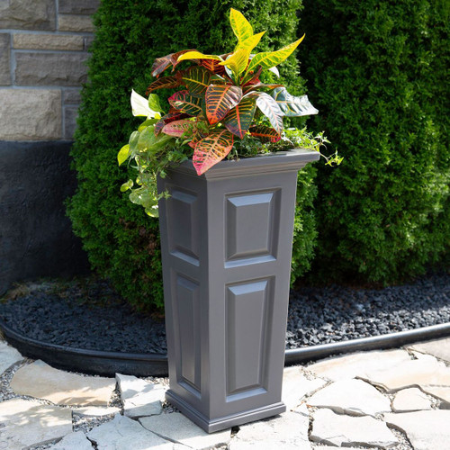 Mayne Nantucket Tall Planter Graphite Grey 4833-GRG