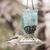 Perky Pet Blue Glass Mason Jar Wild Bird Feeder 784