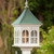 "Fancy Home Products 14"" Double Window Gazebo Birdfeeder With Patina Copper Roof"