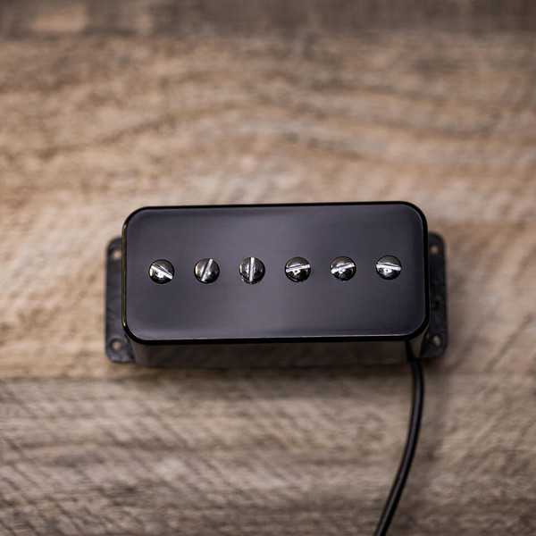 T90 Bridge Pickup Original Gretsch Mount in Chrome with Black Cover