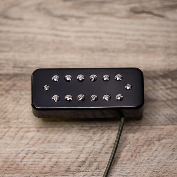 Powertron Neck Pickup Soapbar Mount Chrome with Black Cover