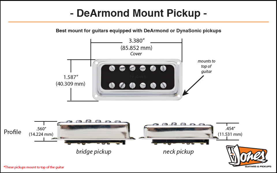 TV Jones DeArmond Mount Dimensions