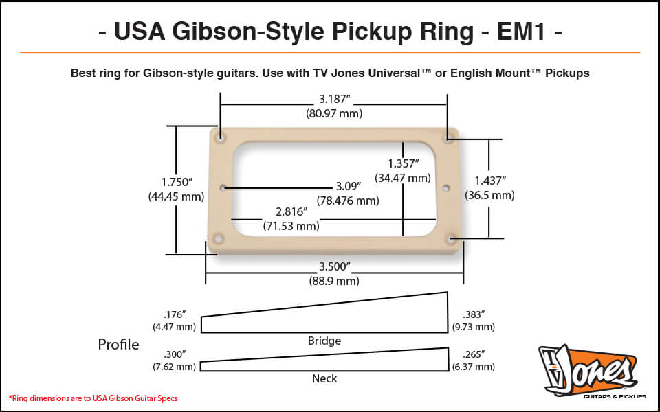 TV Jones EM1 Ring for Gibson-style guitars