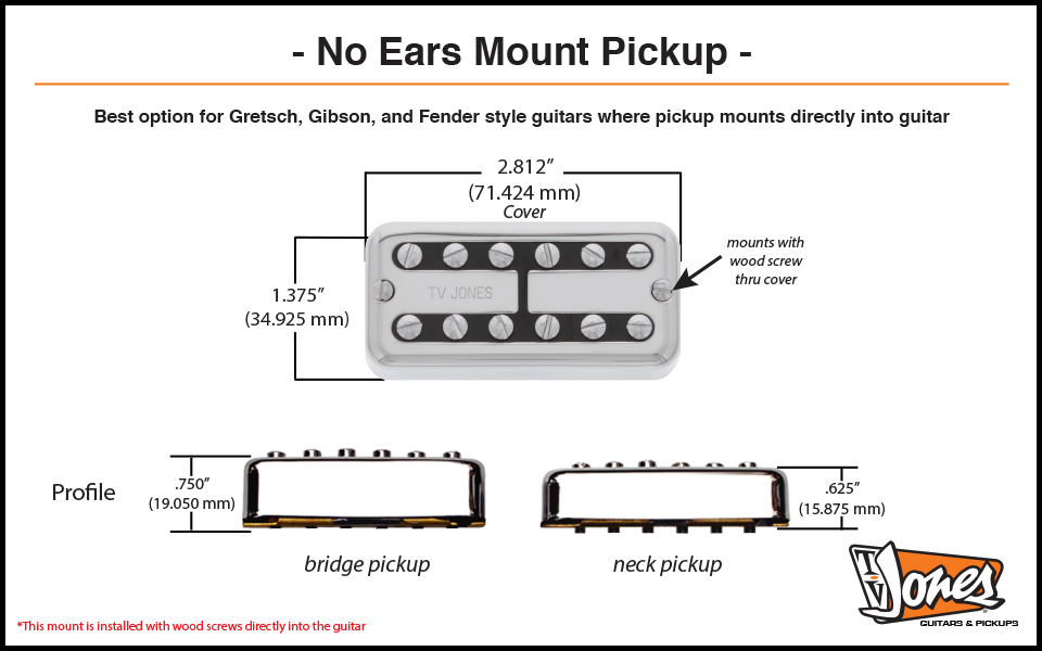 No Ears Mount Dimensions