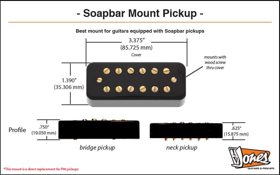 Soapbar Mount Dimensions