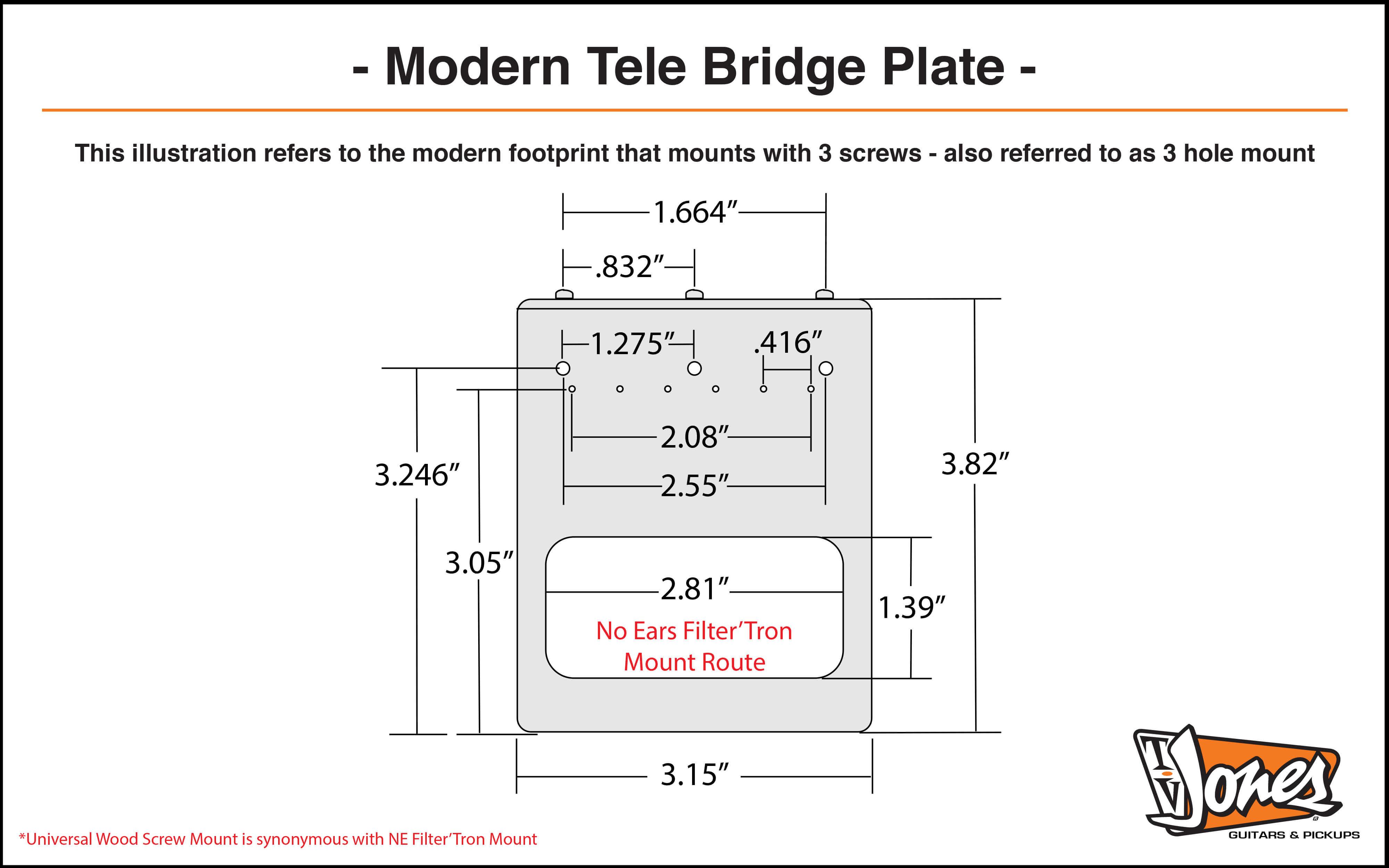 Modern Tele Plate Dimensions